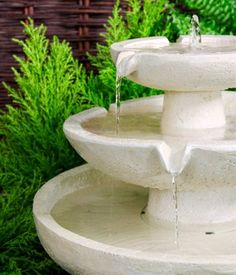Solar Cascade Ivory Three Tier Water Fountain Yard Feature Garden Decoration for sale online Indoor Water Fountains, Indoor Fountain, Garden Fountains, Outdoor Fountains, Fountain Garden, Fountain Ideas, Outdoor Ponds, Outdoor Gardens, Solar Powered Fountain Pump