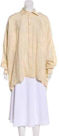 29b297c0be Shirin Guild Linen Button-Up Top w  Tags Point Collar