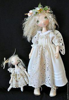 Коллекционные куклы ручной работы. Ангелы тоже играют в кукол. Татьяна Пущина. Ярмарка Мастеров. Текстильная кукла, мех ламы