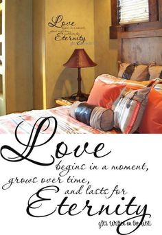 Love Begins in a Moment Vinyl Lettering by ItsWrittenOnTheWall, $11.99
