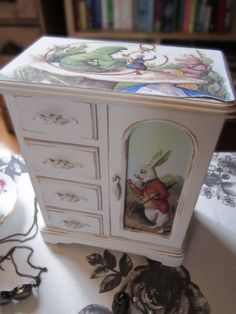 Shabby Chic Jewellery Box  Alice In Wonderland by TheSecretCabinet, £24.99