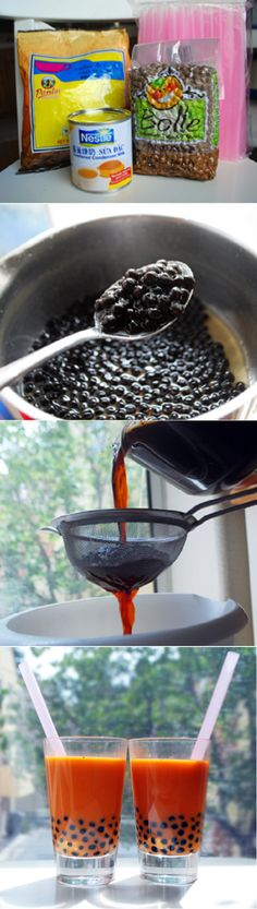 Most popular bubble tea in Thailand recipe by cupcakepedia, drinks, beverage, food