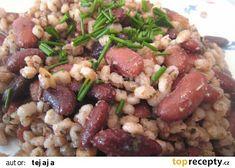 Kroupy s fazolemi na slanině nebo špeku recept - TopRecepty. Beef, Diet, Meat, Steak