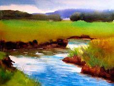 "concord 2012 003.jpg - Geri Duffy  Essex Marsh   Watercolor  24"" x 21"""