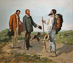 La Rencontre ou Bonjour M. Courbet Gustave Courbet (1819-1877) 1854 Huile sur toile Montpellier Agglomération, musée Fabre