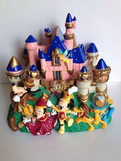 Disney's 50th Anniversary Cinderella's Castle Magic Kingdom Light Up Piggy Bank