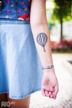 Tattoo Nautical Hot Air Balloon/Globo Aerostático Náutico