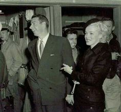 Marilyn and Joe on their honeymoon in Japan, 1954.