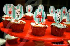 Olivia pig birthday, cupcake toppers, Cumpleaños de Adriana -La fiesta | keniaGuisela