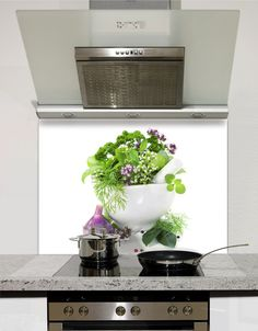 Herbs Glass Splashback