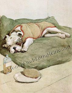 My Dog 7 ~ Illustrative Dog Art (Bulldog) ~ Counted Cross Stitch Pattern #StoneyKnobFarmHeirlooms