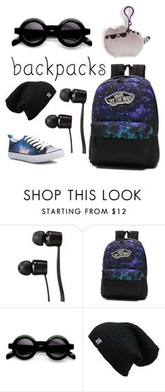 """Galaxy Style"" by renee-short-1 ❤ liked on Polyvore featuring Vans, Pusheen, backpacks, contestentry and PVStyleInsiderContest"