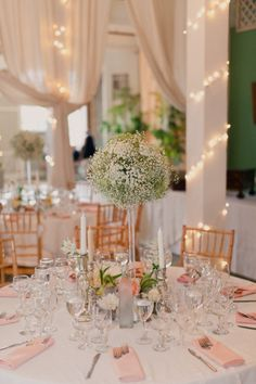 I love everything about this! colors, lighting, centerpieces, flowers etc