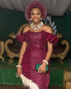 Pilot and MBGN Tourism 2013 winner, Powede Lawrence recently got married to her sweetheart, Ikenna. We bring you the full wedding feature. Nigerian Wedding Dress, African Wedding Attire, African Attire, African Wear, Nigerian Lace, African Style, Wedding Dresses, Lace Dress Styles, African Lace Dresses
