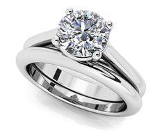 Round Diamond Cathedral Bridal Set