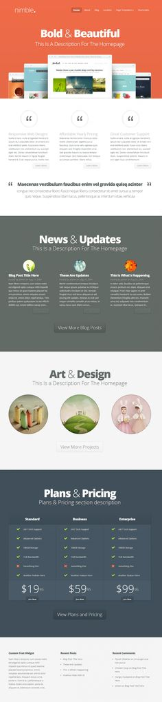 Nimble Theme Responsive Wordpress Theme
