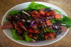Balsamic Steak Salad- 21 Day Fix and 21 Day Fix Extreme Approved- Dana Nicole Fitness