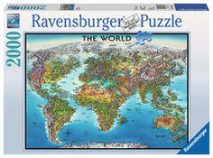 World Map | Adult Puzzles | 2D Puzzles | Shop | US | ravensburger.com