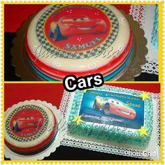 """Torta decorada con merengue y gelatina en capas """" Cars"""""""