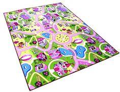 Sweet Girl Town Spielteppich Strassenteppich Kinderspielteppich Mädchen Teppich, 80 x 150 cm: Amazon.de: Küche & Haushalt