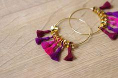 Hello Balthazar - Blog lifestyle et DIY #earrings #créoles #pompons #boho #diy #jewels #bijoux #diy