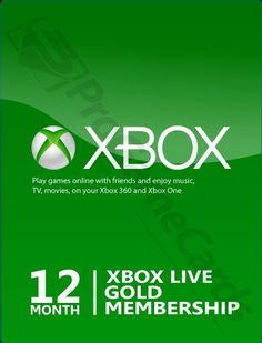 Microsoft 12 Month Xbox Live Gold Membership Subscription for Xbox One/Xbox 360 #Microsoft