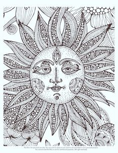 Free adult coloring pages free coloring pages sun coloring pages, printable adult col Adult Coloring Pages, Space Coloring Pages, Flower Coloring Pages, Mandala Coloring, Printable Coloring Pages, Coloring Sheets, Coloring Books, Printable Art, Coloring Pages For Grown Ups
