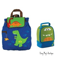 Stephen Joseph Quilted Dinosaur Backpack & Lunchbox for Boys - Kids - Toddler #StephenJoseph #BackpackMatchingLunchBox