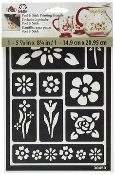 Amazon.com: FolkArt Peel and Stick Painting Stencil, 30459 Floral