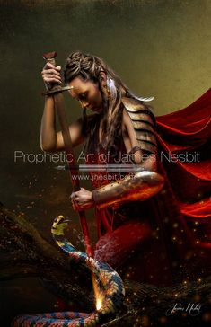 Bridal Collection ~ Executing Justice — Prophetic Art of James Nesbit Spiritual Warrior, Prayer Warrior, Spiritual Warfare, Christian Warrior, Christian Art, Christian Paintings, Christian Quotes, Lion Of Judah Jesus, Christian Pictures