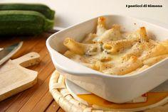 Pasta con zucchine e besciamella