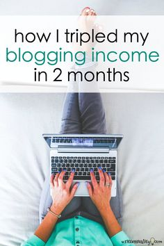 This is how I tripled my income using old blog posts I'd already created. Here's one simple strategy to make money blogging easy starting right now.