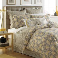 not neutral garden path twin duvet set u0026 pillows yellow retro shabby chic floral