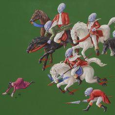 Il posto delle Fragole, 2013, acrilico e olio su tela, cm100x100