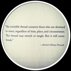 invisible threads. This is true.