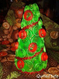 Quilled Life: Świąteczne drzewko, czyli... #quilling #christmas #christmastree #handmade #craft #handcraft #diy