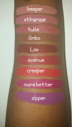 Colourpop cosmetics ultra matte liquid lipsticks swatches for dark skin #makeup…