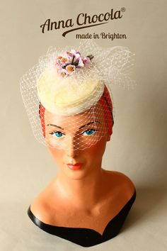 Burlesque Coquette Pillbox Hat - Anna Chocola® Brighton