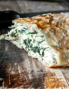 Spinach Ricotta Calzone | Kate from Scratch