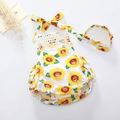 >> Click to Buy << Hot Sale Baby Girls Summer Cotton Floral Clothing Rompers Sunsuits Girl Baby Cute Photo Prop Outfit Matched Headband Set  #Affiliate