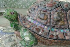 mosiac turtles | Mosaic turtle / Children's Garden of McConnell Arboretum & Botanic ...