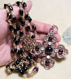 Onyx Rosary Catholic Bronze Unbreakable with by HeartFeltRosaries, $349.00