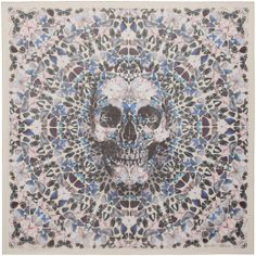 Butterflies and Skulls Decorate Alexander McQueen × Damien Hirst Scarves