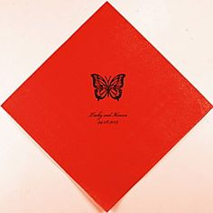 Personalized Wedding Napkins Butterfly(More Colors)-Set of 100 – GBP £ 35.20