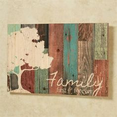 Family First and Forever Wooden Wall Plaque
