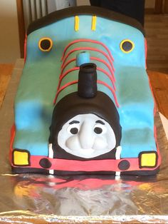 Bursdagskake. Tommas toget.