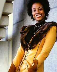 Bernnadette Stanis, Norman Lear, Mike Evans, Africa People, All In The Family, Executive Producer, Beautiful Black Women, Good Times, Fur Coat