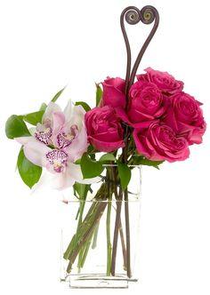 Photo courtesy: Leanne and David Kesler, Floral Design Institute, Inc., in Portland, Oregon Cupid, Red Roses, Valentines Day, Glass Vase, Floral Design, Portland Oregon, Flowers, Inspiration, Valentine's Day Diy