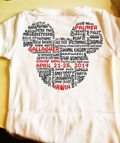Customizable Walt disney world family shirt by MissMollyGDesign, $17.50  love this for our first trip