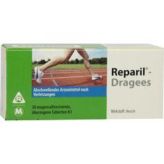 REPARIL Dragees magensaftresistente Tabletten:   Packungsinhalt: 20 St Tabletten magensaftresistent PZN: 07625861 Hersteller: MEDA Pharma…